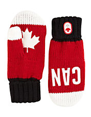 Canada Snow Top Red Mittens Adult