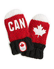 Canada Snow Top Red Mittens Infant