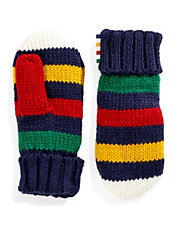 Navy Stripe Youth Mittens