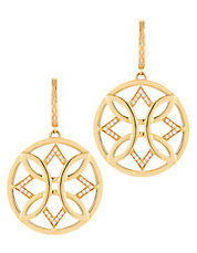 Aberdeen Earrings 18kt Yellow Gold 22mm In Diameter