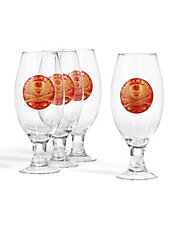 Set of 4 Decorated Ale Glasses