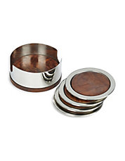 5 Piece Stainless Steel Coaster Set