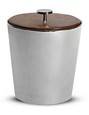 Sheesham Wood and Stainless Steel Ice Bucket