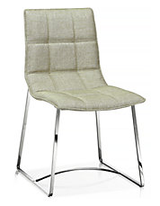 Foster Dining Chair in Vision Silverfox fabric Set of Two