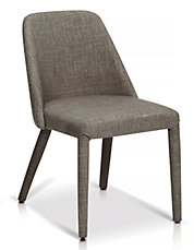 Jenni Side Chair in Keystone Charcoal Fabric Set of Two