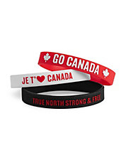 Three-Pack Canada Wristbands