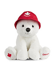 Canada Plush Bear with Bucket Hat