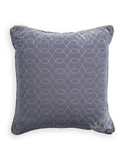 Velvet Geo-Embroidered Pillow