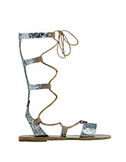Thebes Calf Hair Gladiator Sandals