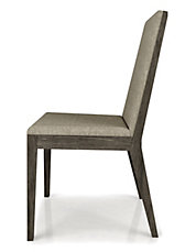 Outline Upholstered Dining Chair   Fabric (Set Of Two)