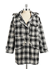 Plaid Paddington Wool-Blend Coat