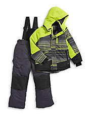 Two-Piece Striped Snowsuit Set