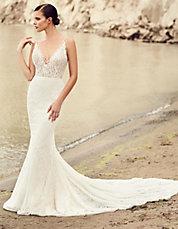 Robe de mariee fluide avec manche