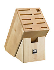 11 Slot Natural Wood Knife Storage Block