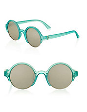 ladies sunglasses brands xudg  Cut-Out Round Sunglasses