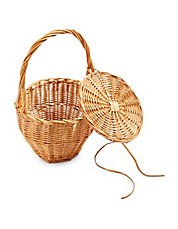 Shelly Straw Basket Bag