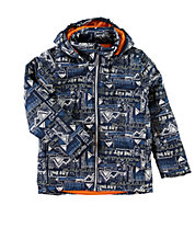 Allover Graphic Print Jacket