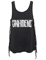 Fringed Confidence Tank Top