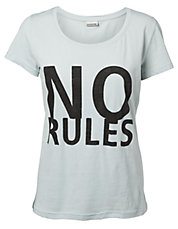 T-shirt en tricot de coton No Rules