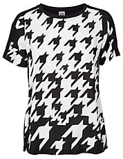 Houndstooth Print Tee