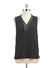 Delora Dotted Sleeveless Blouse