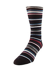 Wool-Blend Striped Crew Socks