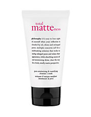 total matteness pore minimizing and purifying cleanser plus mask