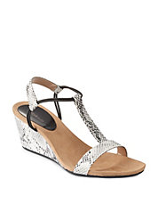 Mulan T-Strap Wedge Sandals