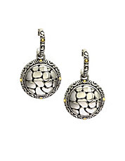 Sterling Silver With 18K Yellow Gold Accents Drop Earrings