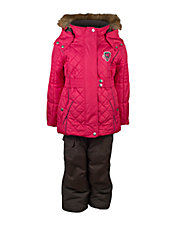 Two-Piece Quilted Snowsuit Set