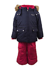 Two-Piece Embroidery Snowsuit Set
