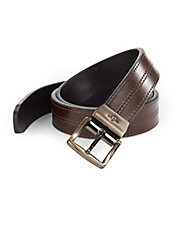 Leather Reversible Stitch Belt