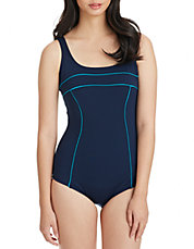 Tech One Piece Swimsuit with Contrast Trim