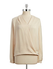 Surplice Blouse with Necklace