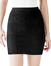Geo Embossed Bandage Skirt