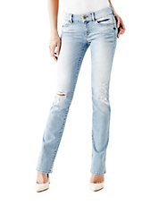Mid Rise Mini Bootcut Jeans