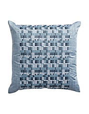 Colonnade Indigo Square Throw Pillow