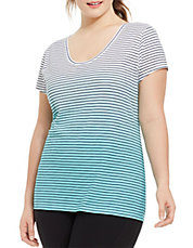Plus Sport Striped Ombre Tee