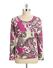 Petite Floral Long Sleeve Shirt