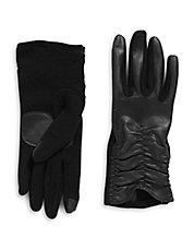 Touch Ruched Gloves with Sheepskin