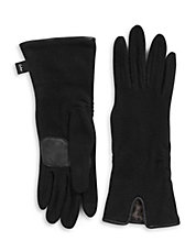 Notched Cuff Touchscreen Gloves