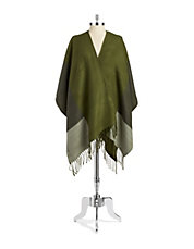Colourblocked Reversible Poncho Scarf