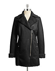 Faux Shearling Coated Jacket