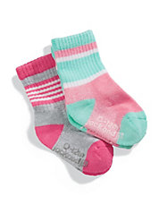 Chaussettes rayees paquet de 2 paires