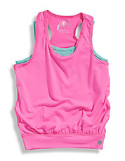 Girls 2 to 6 Active Twofer Tank