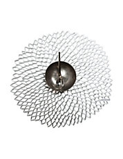 Floral  Shaped Pressed Dahlia Silver Placemat