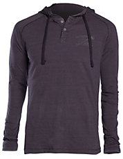 Henley Striped Hoodie