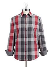 Checkered Semi-Fit Button Shirt