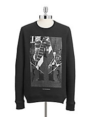 Quilted Graphic Sweatshirt