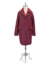 Essential Wool Boucle Boyfriend Coat